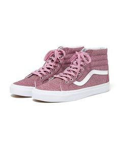 3fe7b7f995 sk8-hi reissue - pink glitter by vans - shoes - ban.do Glitter