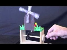Wooden automata toys that could be outfitted with electronics for physical programming activity.