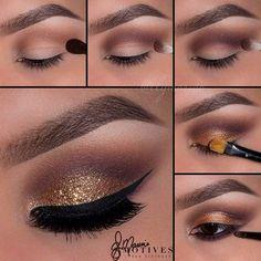 Gold & Brown Smokey Eye Tutorial