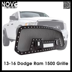 Ram 1500 Accessories 13-16 Dodge Ram Stainless Steel Wire Mesh Grille For Led Light Bar