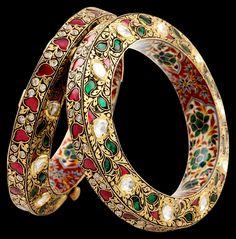 Ruby and emerald bangle by Sunita Shekhawat.