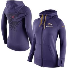 Women s Baltimore Ravens Nike Purple Warpspeed All Time Full-Zip  Performance Hoodie 7a76f679b