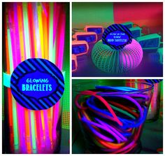 Glowing party favors