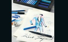 Karl Lagerfeld Releases Limited Edition Set Of Art Supplies | Discover more: http://designlimitededition.com/