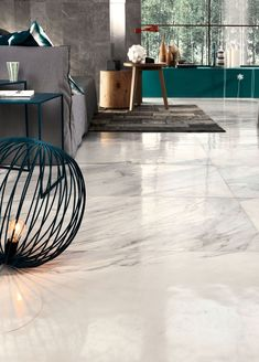 Milk & Honey transforms bright and warm components of nature into contemporary architecture. The size brings a unique element to traditional marble by mixing six different textures. Living Spaces, Living Room, House Rooms, Porcelain Tile, Contemporary Architecture, Home And Living, Tile Floor, Flooring, Interior Design