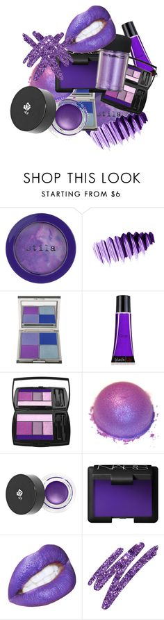 """Explosion of purple"" by stylishpug ❤ liked on Polyvore featuring beauty, Stila, Yves Saint Laurent, CARGO, blacklUp, Lancôme, NARS Cosmetics, M.A.C, Urban Decay and purple"