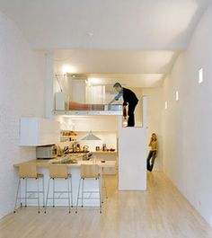 shotgun loft apartments | ... Woo makes the most of 700 sq. ft. of space in his New York apartment