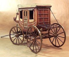Scale Model Gallery - Stagecoach (1848) - Left Back View