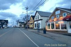Photo of the Week: December - Passing through the town of St Peter's in the early hours of the day Cape Breton Living Cape Breton, Photos Of The Week, Nova Scotia, The Neighbourhood, December, Street View, Canada, Sky, Island