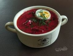 Botwinka - wiosenna zupa z jajem Chili, Food And Drink, Beef, Cooking, Ethnic Recipes, Places, Kitchen, Polish, Food And Drinks