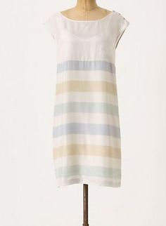 Anthropologie Shore House Shift Dress Size 2, Odille