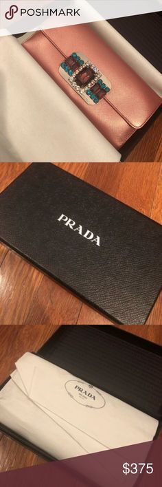 PRADA Wallet PRADA- 100% Authentic. (Comes with box, wrapping and authenticity card) Please NOTE: This wallet was NEVER used, and is in NEW condition! This wallet was purchased in 2009, so as you can see the stamp on the authenticity card has rubbed off from being in an envelope and a box for 9 years.  If you have any additional questions, please feel free to COMMENT!  I will be more than happy to satisfy your purchase.  Before purchase, please read my [1,2,3 RULES POST] to avoid any future…