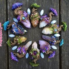 Life Quotes : culturenlifestyle: Whimsical Cosmic Creations Fit For a Mermaid Crystal Magic, Crystal Grid, Crystal Shop, Crystals And Gemstones, Stones And Crystals, Natural Crystals, Clay Jewelry, Crystal Jewelry, Amethyst Jewelry