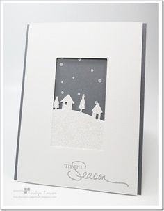 Stampin' Up!, Tis the Season, sleigh Ride Edgelits, Christmas