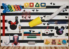 Ocupado de tablero Mickey y Minnie actividad por Woodledoodleshop