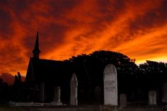 Graveyard Sunset, Cressy.  Article by Len Langan and photo by Dan Fellow for www.think-tasmania.com
