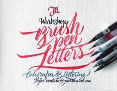 Taller de lettering con pinceles by Roberto Ortiz