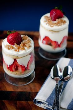 Desserts for Breakfast: Ginger White Chocolate Strawberry Trifles