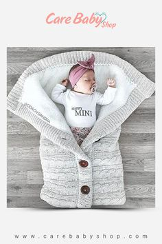 Baby Sleeping Bag Envelope Winter Kids Sleepsack Footmuff For Stroller Knitted Sleep Sack Newborn Swaddle Knit Wool Slaapzak – Hiking Pro Baby Sleeping Blanket, Toddler Blanket, Baby Blanket Crochet, Bunny Blanket, Bunting Bag, Best Baby Blankets, Baby Swaddle, Swaddle Blanket, Swaddle Wrap