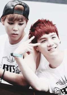 "Jimin & Suga ♥ #BTS  Haha, Jiminie's like ""what's going on?  Huh?"""