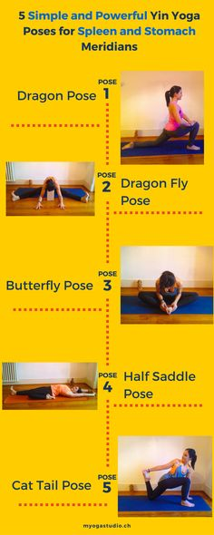 #Yin yoga poses to Improve the Spleen and Stomach Meridians