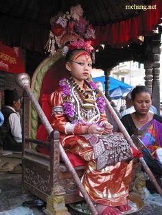 Kumari - Living Goddess of Nepal via photopin cc Patan, Nepal