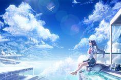 「空に生きる living in the sky」/「C&L(キャンドル)」のイラスト [pixiv]