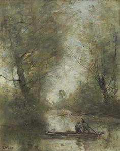 Jean-Baptiste-Camille Corot, Deux bateliers en rivière