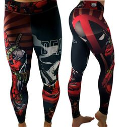S2 Activewear - UNISEX Deadpool Leggings Everyone loves the superhero, Deadpool from the Marvel Comics universe! These super colorful and fun leggings fit great, last forever and will make your friends jealous! https://ronitaylorfitness.com/collections/s2-activewear/products/unisex-deadpool-superhero-leggings