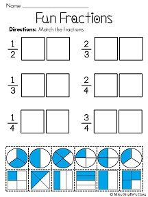 comparing fractions worksheets - other math worksheets on this ...