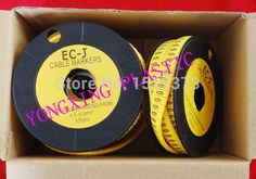 99.00$  Buy here - http://alirzp.worldwells.pw/go.php?t=32252466025 - 16roll/lot cirlce Cable marker EC-3 6 square meter yellow color X Y Z S each 4 roll 99.00$