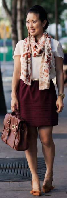 Runway To Reality: Floral + Oxblood