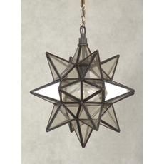 Moravian Star Collection, 1 Light Pendant - Front Hallway