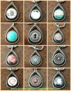 The New Emma Teardrop Pendant from Magnabilities! www.loubroughton.magnabilities.com