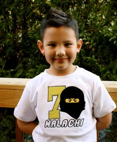 Boys Lego Ninjago Birthday Shirt by littlestarsclothing on Etsy, $25.00