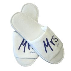 £5.50 Personalised Mr or Mrs Slippers