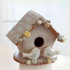 Mini Spring Bird House cookie Cotage // Cookie Crumbs