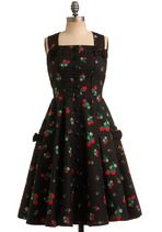 Pin-Up Clothing - Sweet Temptation Dress in Strawberries
