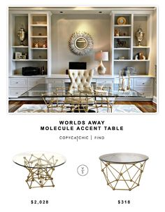 @dominomag Worlds Away Molecule Accent Table $2028 vs @overstock Sterling Molecular Table $318