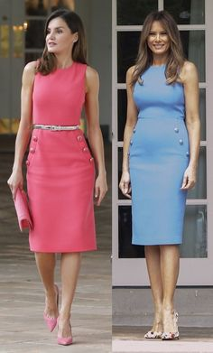 Queen Letizia of Spain and Melania Trump Fashion Mode, Fashion 2020, Modest Fashion, Fashion Dresses, Modest Dresses, Simple Dresses, Nice Dresses, Dresses For Work, Melanie Trump
