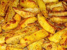 cartofi la cuptor (car-tofi la cup-tor, ok?)