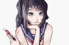 Image uploaded by Eevee-chan. Find images and videos about yandere simulator, yandere-chan and ayano aishi on We Heart It - the app to get lost in what you love. Yandere Chan, Yandere Anime, Animes Yandere, Sad Anime, Anime Art, Yandere Simulator Fan Art, Ayano X Budo, Yendere Simulator, Monster Prom