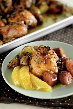 Pollo española con chorizo y patatas - La vida es grande