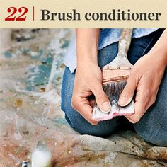 Use hair conditioner on your synthetic bristle brushes after cleaning them. Rinse off the conditioner prior to using them. This keeps them nice and purdy. :)