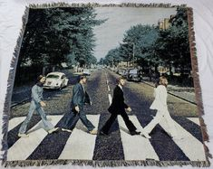 The Beatles Woven Tapestry Throw Blanket Abbey Road Wall Hanging #FunkyPeopleInc