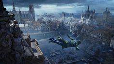 Assassins Creed Unity Game Jump Wallpaper HD 1920×1080