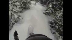 http://www.POVPowder.com 1st Person POV Snowboarding Steep Gully #3 Lower Section A-Basin Colorado 5/15/14 #POVPowder