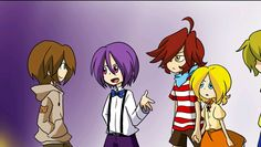 S.A.V.E T.H.E.M. (by: pole-bear) Five nights at Freddy's Before they were killed Bonnie, Freddy, foxy, Chica and Goldie Foxy and Chica are holding Hands!!!