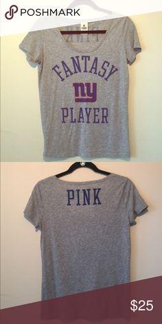 68274722c62 NFL NY Giants Tshirt Victoria Secret Heather Gray NFL NY Giants Tshirt PINK  Victoria s Secret Tops