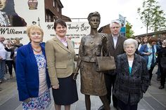 Mother Daughter Sister a new sculpture by Ross Wilson was unveiled by Finance Minister Arlene Foster and is supported by the Building Peace through the Arts - Re-Imaging Communities Programme.